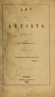 Cover of: Art and artists