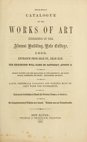Catalogue of paintings in the south room of the Gallery of Yale College by Yale University