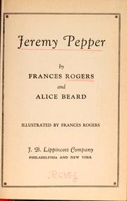Cover of: Jeremy Pepper