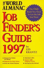 Cover of: The World Almanac Job Finder's Guide 1997 (Job Finder's Guide)