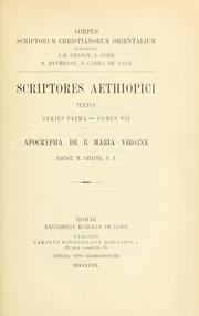 Cover of: ... Apocrypha de B. Maria Virgine