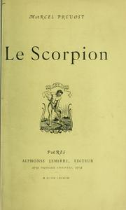 Cover of: Le Scorpion