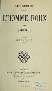Cover of: L'homme roux