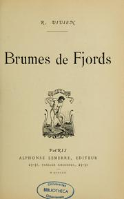 Cover of: Brumes de fjords