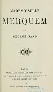 Cover of: Mademoiselle Merquem