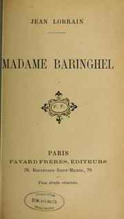 Cover of: Madame Baringhel