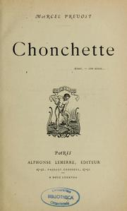 Cover of: Chonchette