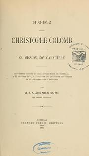 Christophe Colomb by L.-A Gaffre