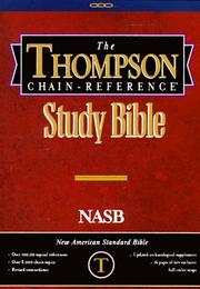 Cover of: Thompson NASB Chain Reference Bible |