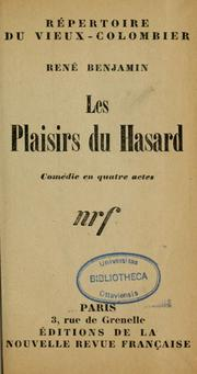 Cover of: Les plaisirs du hasard