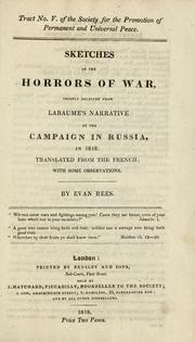 Cover of: Sketches of the horrors of war