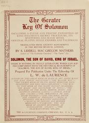 The greater Key of Solomon | Open Library