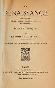 Cover of: La renaissance
