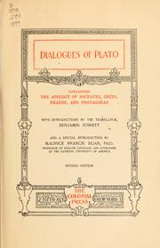Cover of: Dialogues of Plato