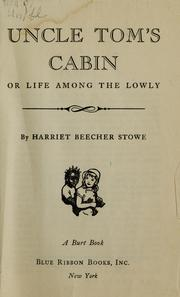 Cover of: Uncle Tom's cabin