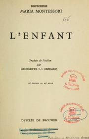 Cover of: L'enfant