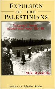 Cover of: Expulsion of the Palestinians | Nur Masalha