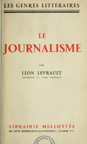 Cover of: Le Journalisme