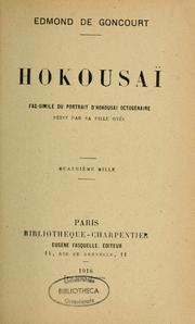 Cover of: Hokousaï