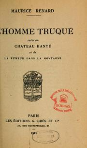 Cover of: L'homme truqué
