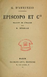 Cover of: Episcopo et Cie