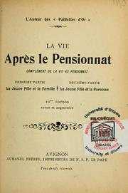 Cover of: La vie apres le pensionnat