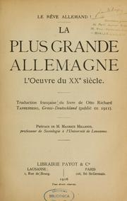Le Rêve allemand by Otto Richard Tannenberg