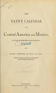 Cover of: The native calendar of Central America and Mexico