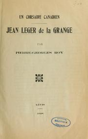Cover of: Jean Leger de la Grange