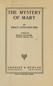 Cover of: The mystery of Mary | Grace Livingston Hill Lutz