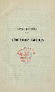 Cover of: Méditations inédites