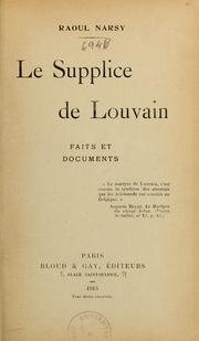 Le supplice de Louvain by Raoul Narsy