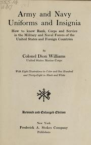 Cover of: Army and navy uniforms and insignia | Dion Williams
