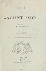 Cover of: Life in ancient Egypt