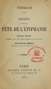 Cover of: Sermon pour la fete de l'Epiphanie