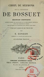 Cover of: Choix de sermons de la jeunesse de Bossuet