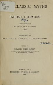 Cover of: The classic myths in English literature