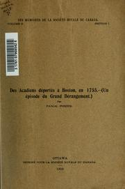 Cover of: Des Acadiens déportés à Boston, en 1755