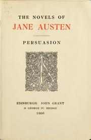 Cover of: The novels of Jane Austen