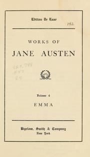 Cover of: Works of Jane Austen