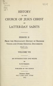 Cover of: History of the Church of Jesus Christ of Latter-day Saints