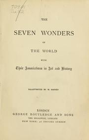 Cover of: The Seven wonders of the world, with their associations in art and history |