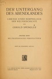 Oswald Spengler Untergang Des Abendlandes Pdf