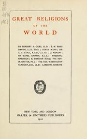 Cover of: Great religions of the world