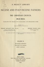 Cover of: A Select library of Nicene and post-Nicene fathers of the Christian church .