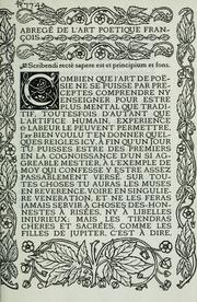 Cover of: Abregé de l'art poetique françois