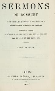 Cover of: Sermons de Bossuet