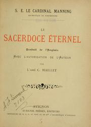 Cover of: Le sacerdoce éternel
