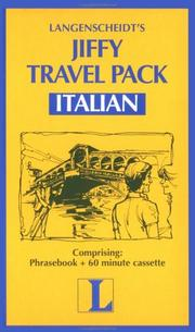 Cover of: Jiffy Travel Pack in Italian |