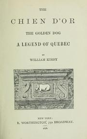 Cover of: The chien d'or